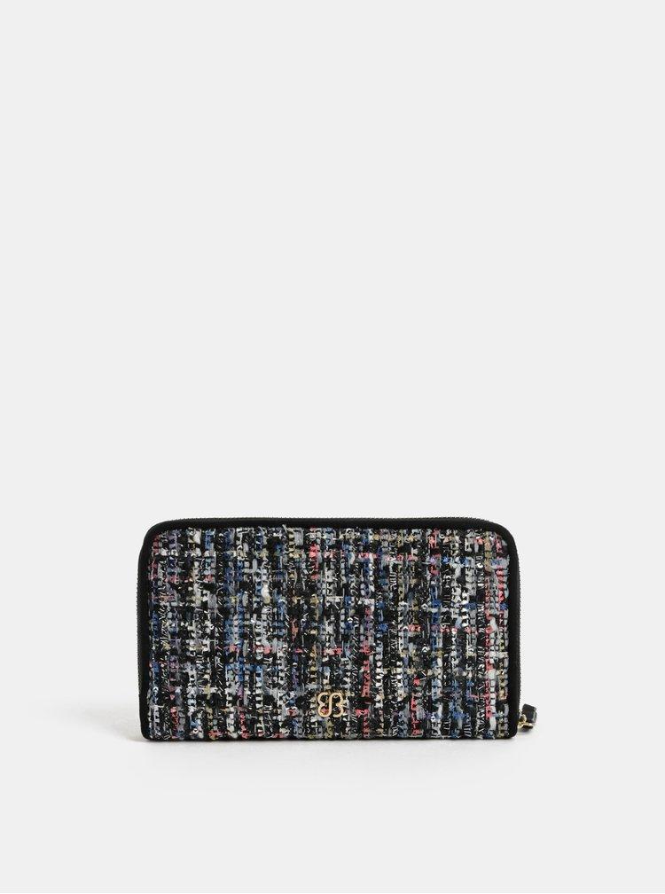 Ružovo–čierna veľká melírovaná peňaženka Bessie London