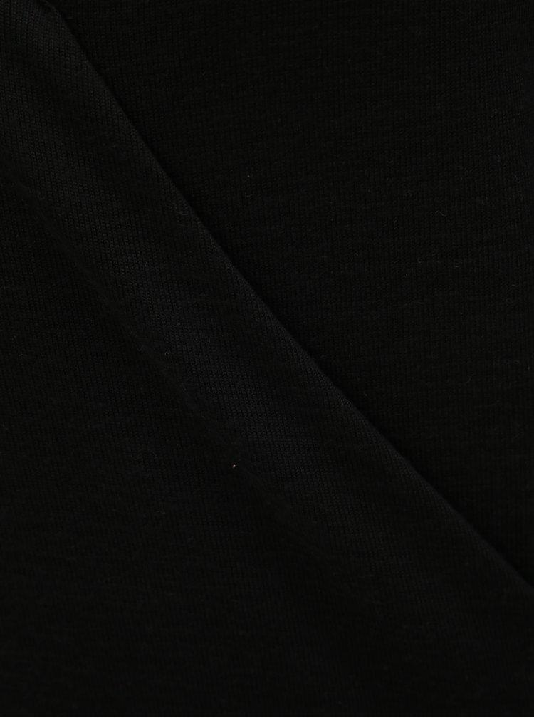 Pulover negru lejer cu decolteu suprapus Noisy May Metropol