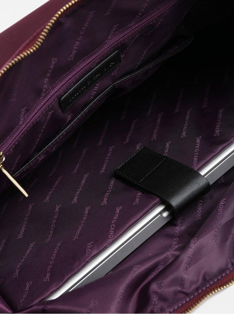 Geanta de voiaj bordo cu buzunar pentru laptop Smith & Canova
