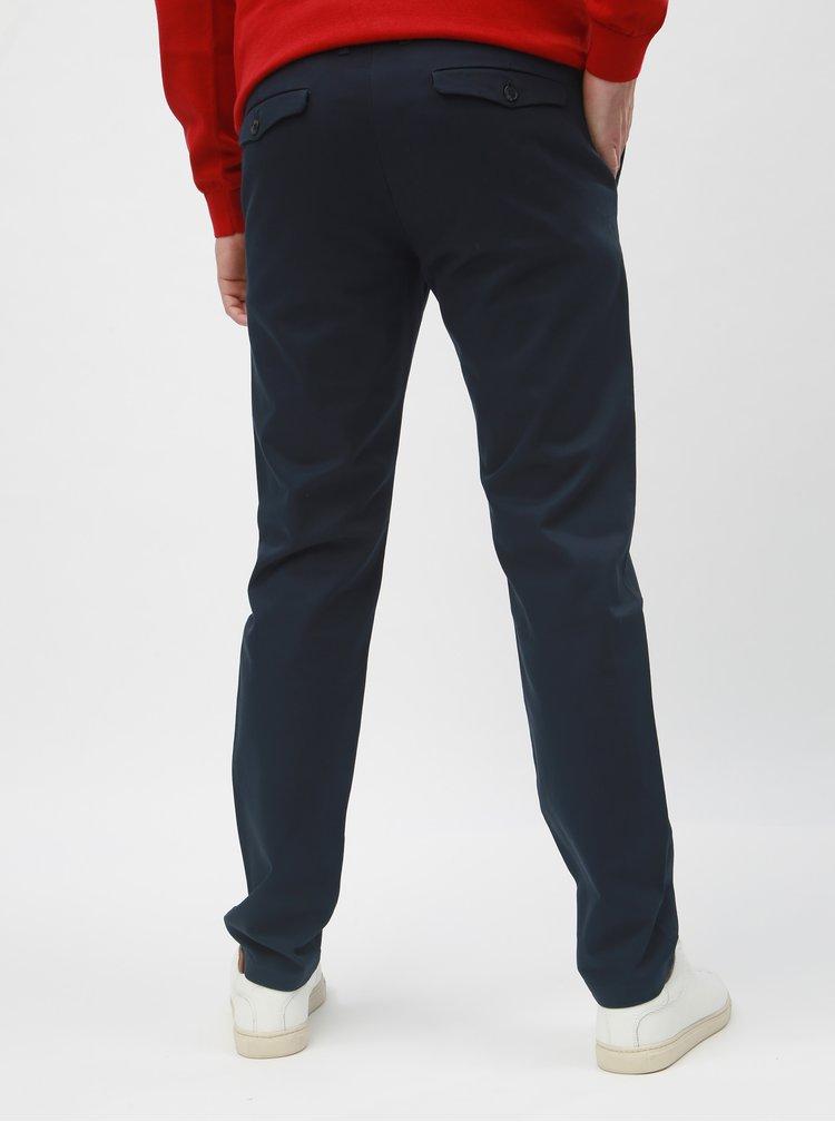 Tmavomodré slim nohavice Selected Homme Carlo