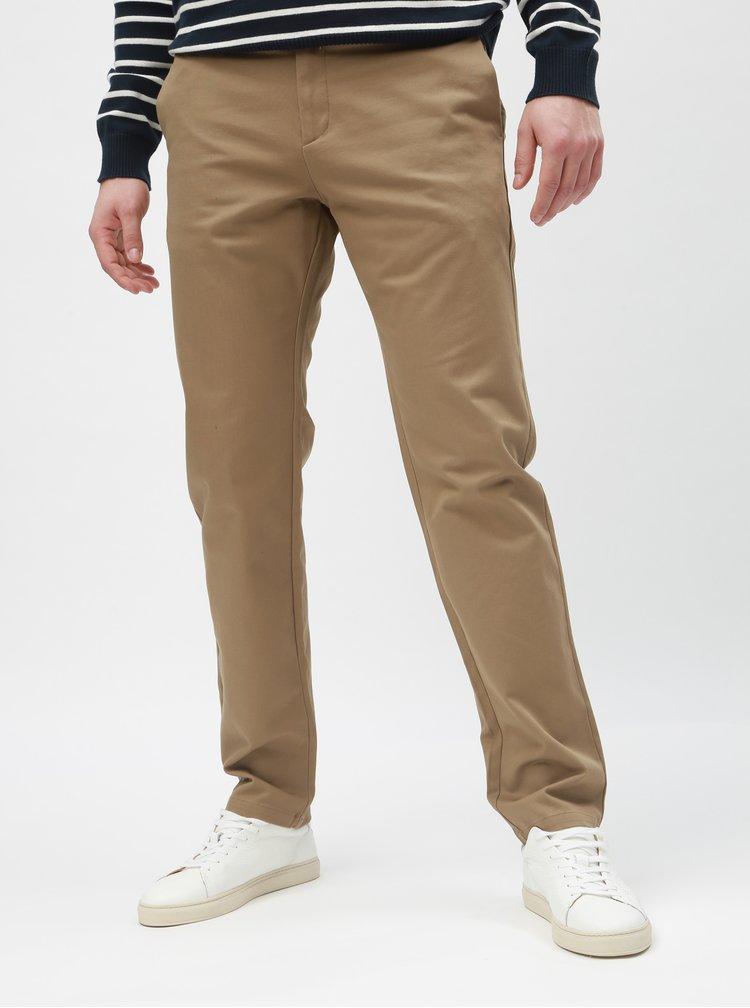 Béžové slim nohavice Selected Homme Carlo