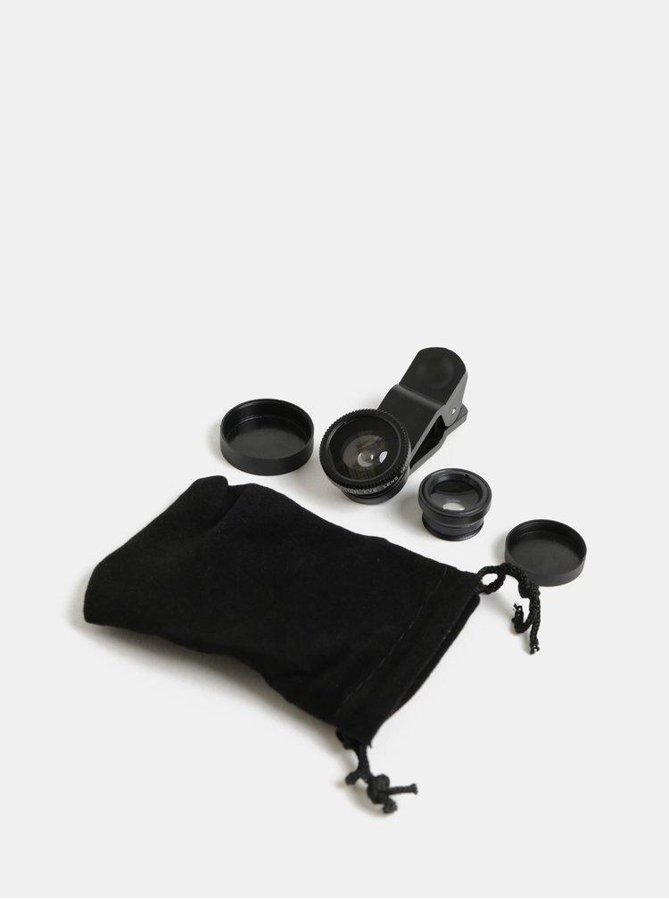 Sada tří černých čoček na telefon Kikkerland