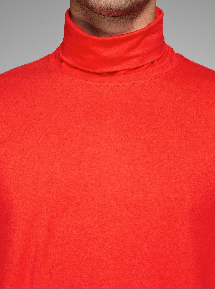 Červený rolák s dlouhým rukávem Jack & Jones Blogs
