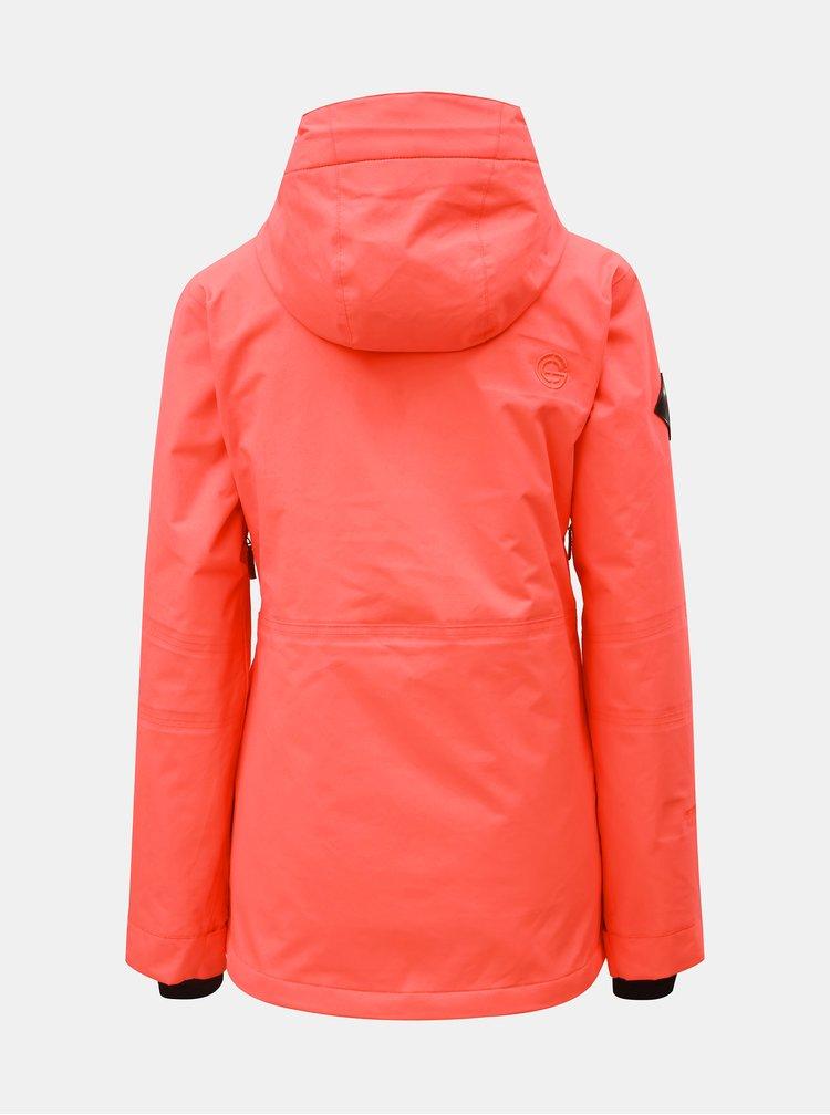Geaca oranj neon impermeabila de dama de snowboard NUGGET Anja