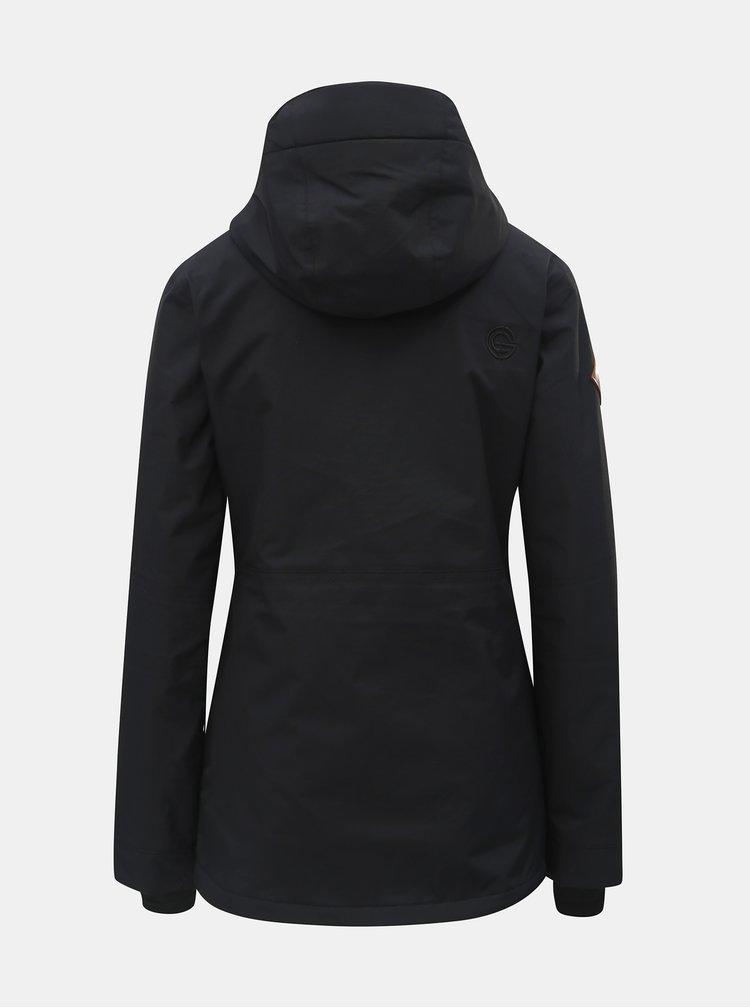 Černá dámská voděodolná snowboardová bunda NUGGET