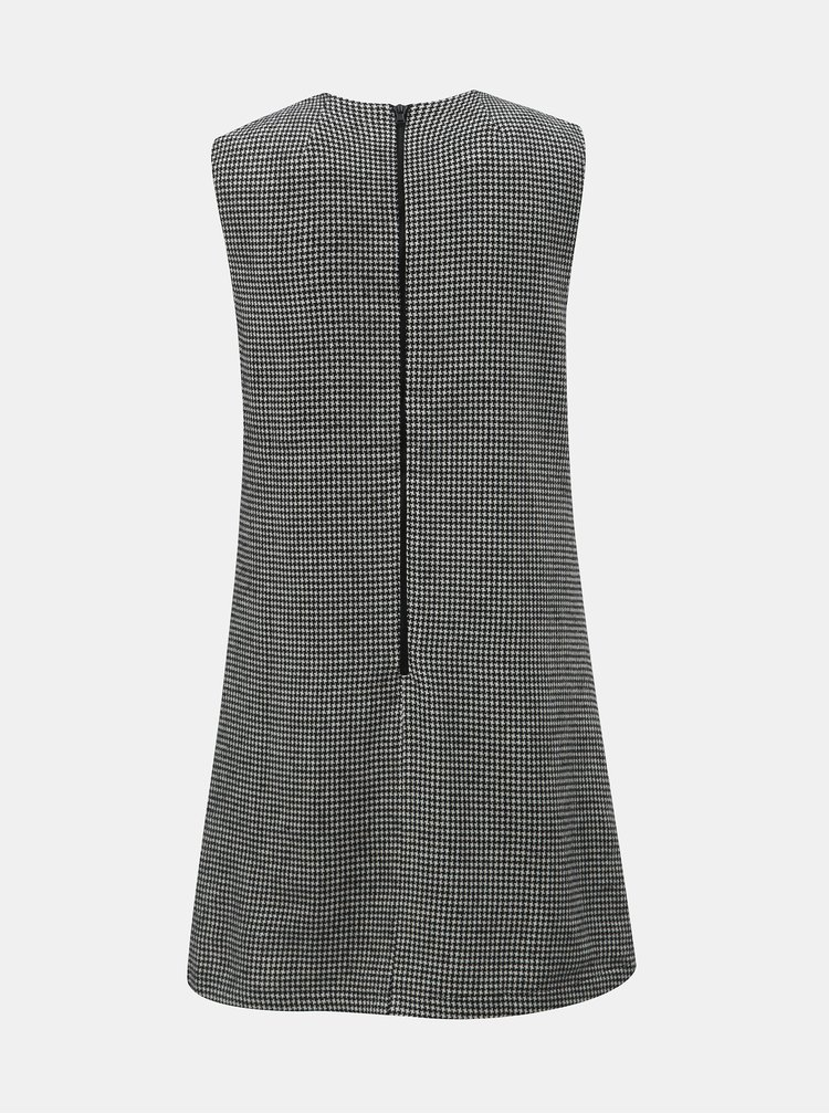 Šedé vzorované šaty bez rukávů Apricot