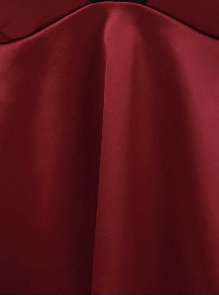 Set de camasa de noapte roz inchis si chiloti negri Obsessive