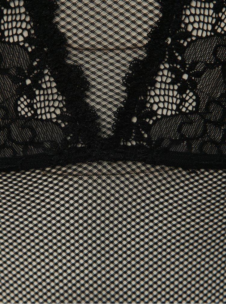 Kolekcia priesvitnej košieľky a táng v čiernej farbe Obsessive