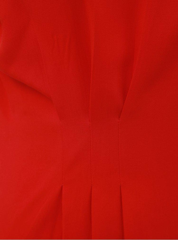 Červená halenka s řasením v pase VERO MODA Jaylo