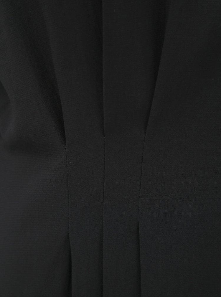 Černá halenka s řasením v pase VERO MODA Jaylo