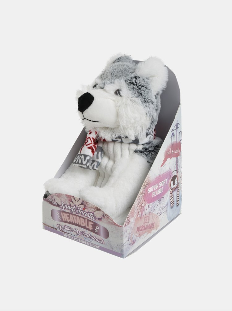 Husky alb-gri din plus cu incalzire si aroma de lavanda Something Special