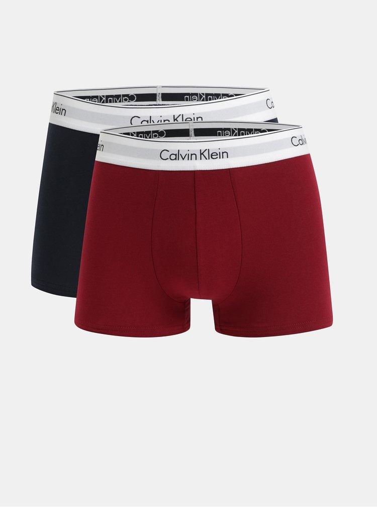 Sada dvou boxerek v červené a tmavě modré barvě Calvin Klein Underwear