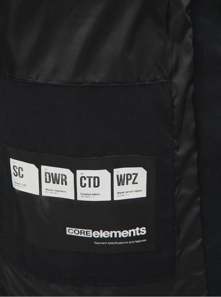 Čierna zimná nepremokavá bunda s kapucňou Jack & Jones