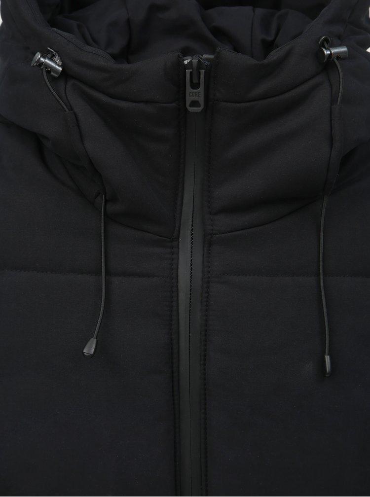 Černá zimní voděodpudivá bunda s kapucí Jack & Jones