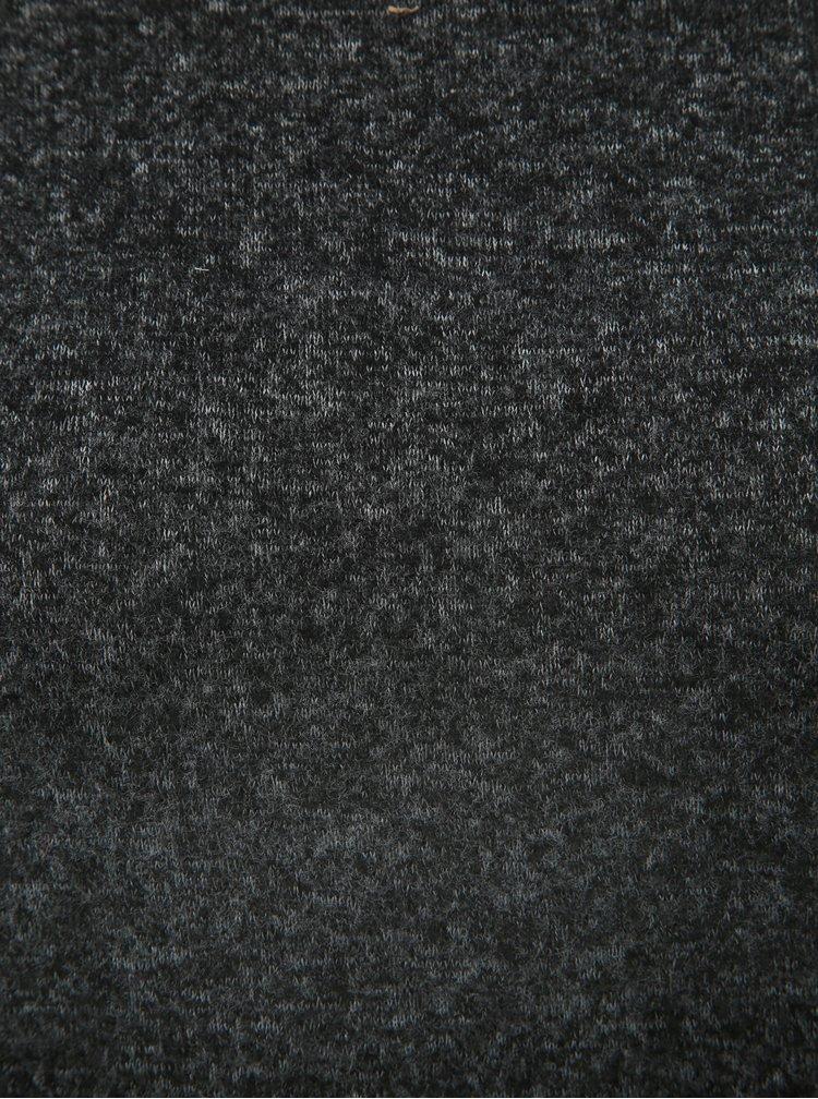 Helanca neagra melanj cu maneci 3/4 Jacqueline de Yong