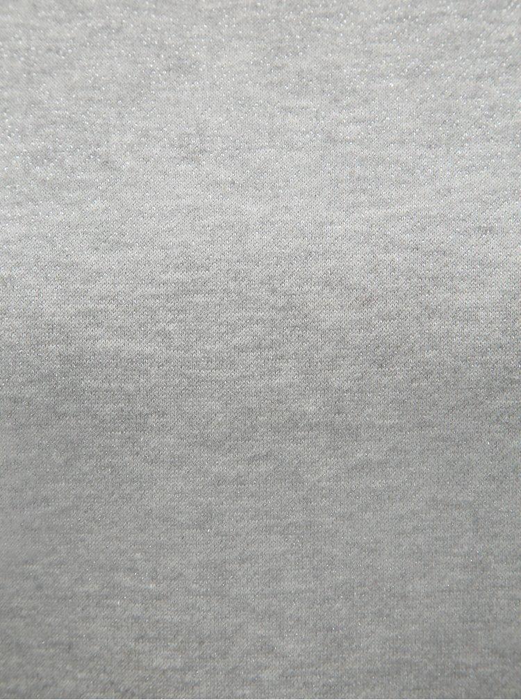 Sivá trblietavá mikina ONLY