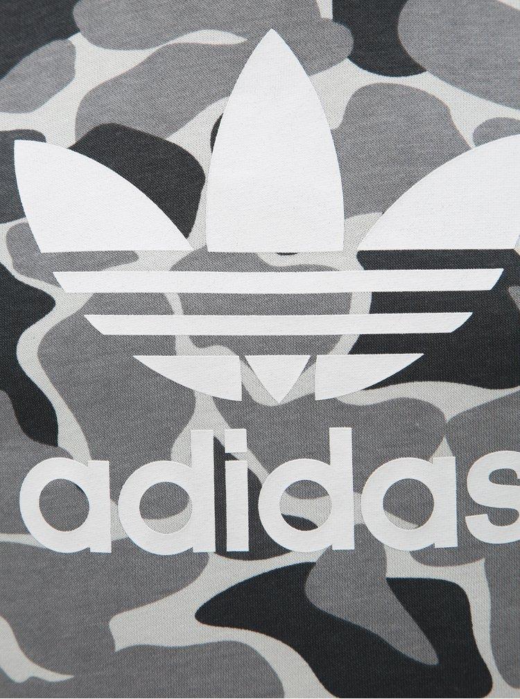 Šedá klučičí maskáčová mikina s potiskem adidas Originals