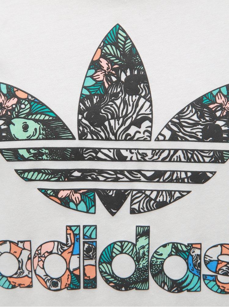 Bílé holčičí tričko s potiskem adidas Originals Zoo
