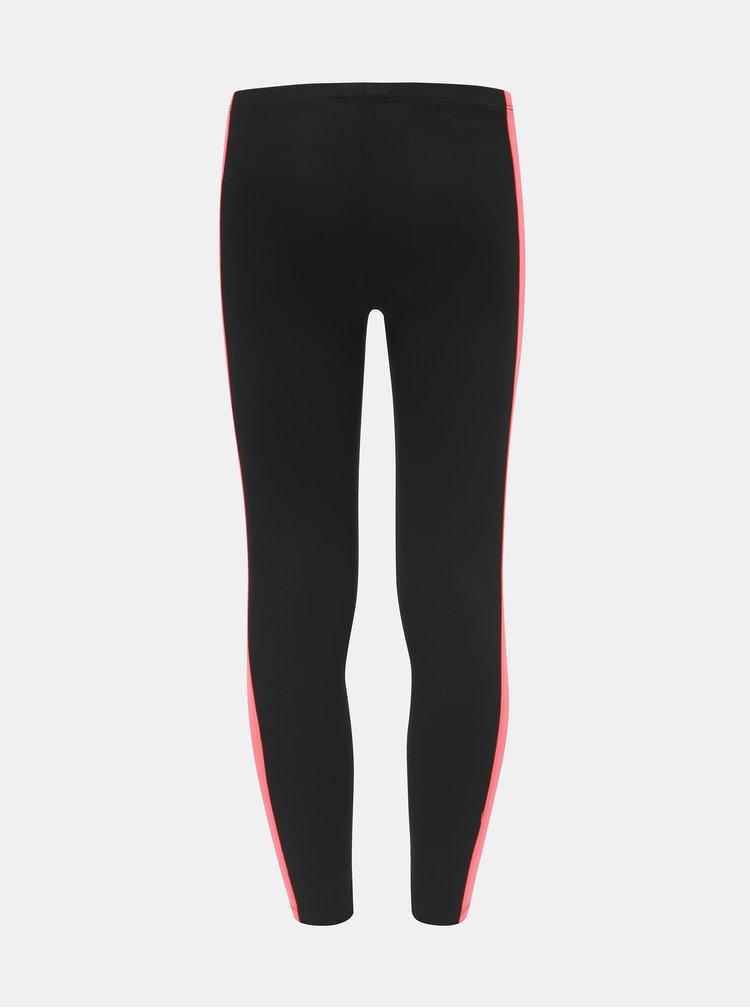 Růžovo-černé holčičí legíny adidas Originals