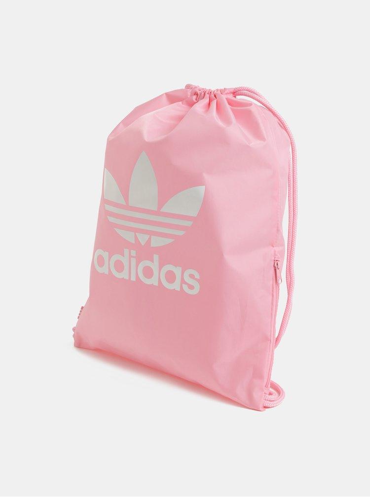 Růžový dámský vak s potiskem adidas Originals