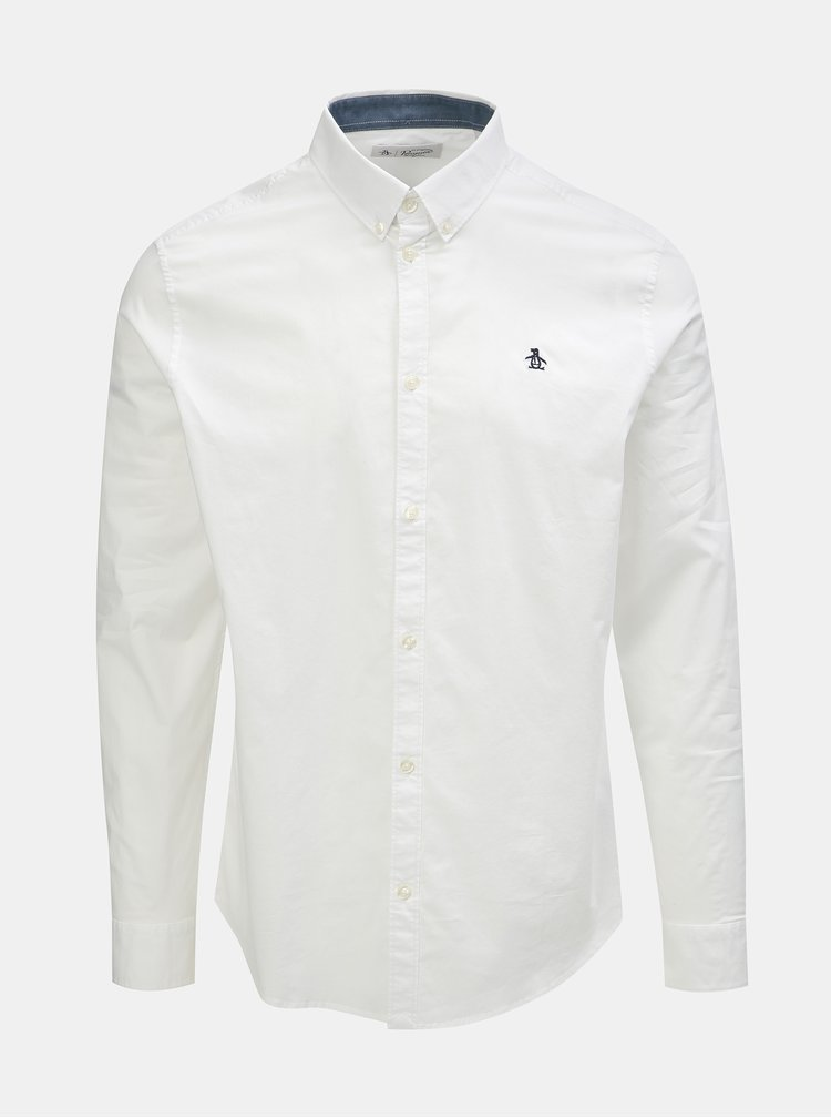Bílá košile s dlouhým rukávem Original Penguin Poplin