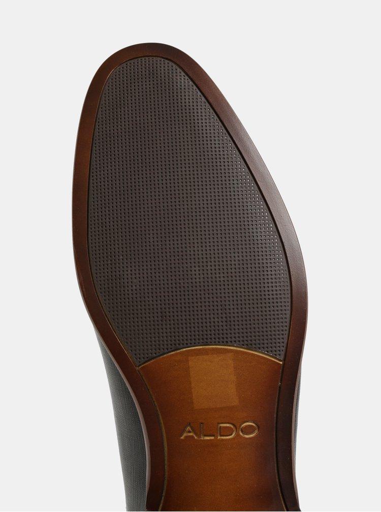 Černé pánské kožené polobotky ALDO Nyderadien