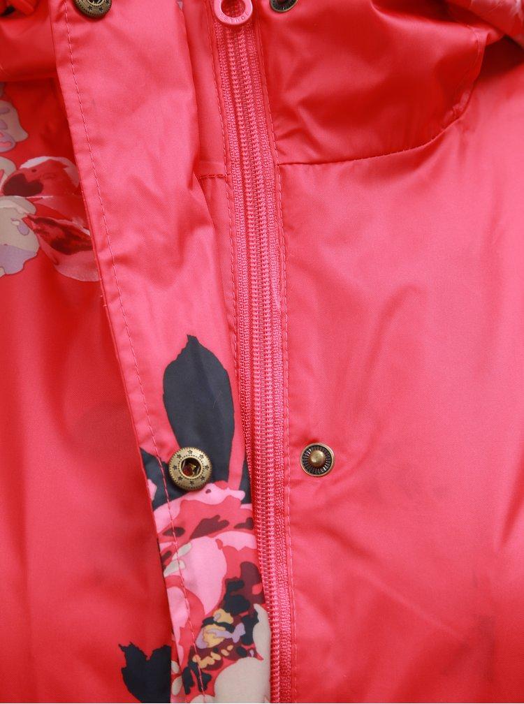 Červená dámská květovaná pláštěnka Tom Joule