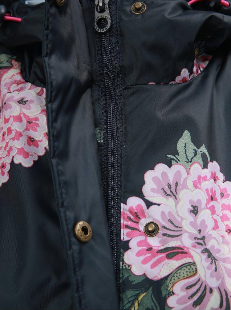 Jacheta impermeabila neagra florala de dama Tom Joule