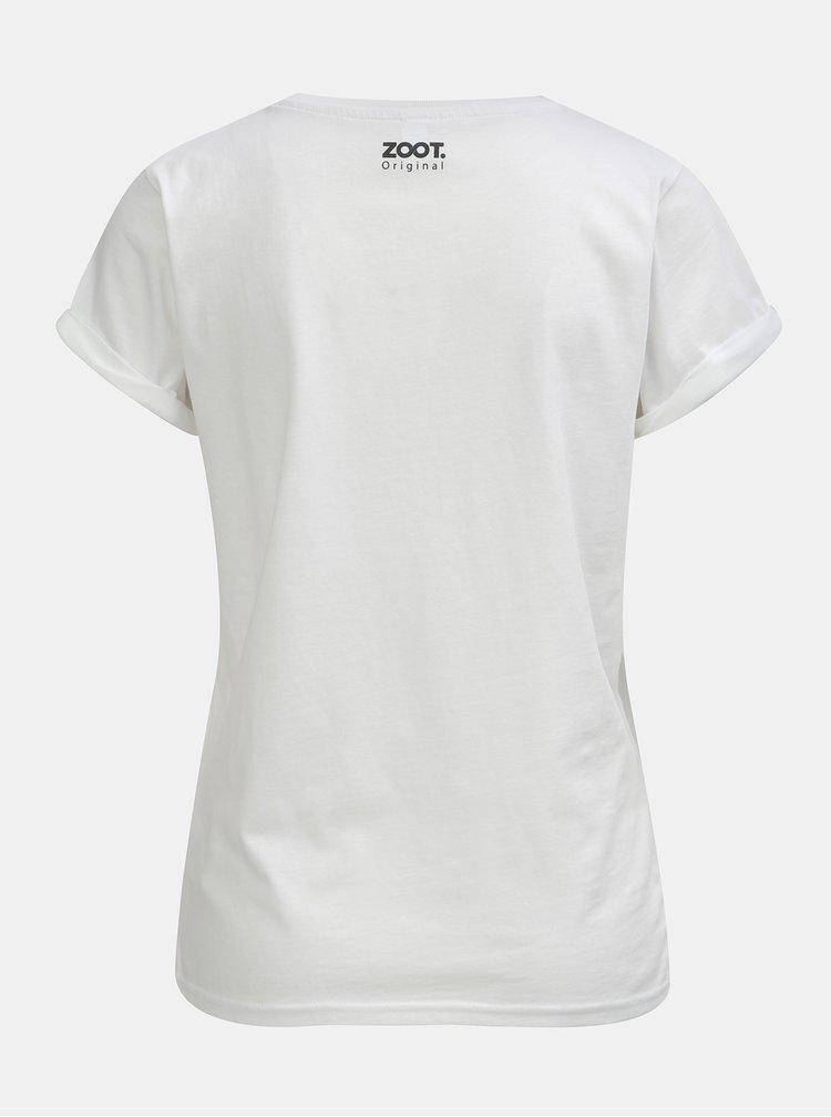 Bílé dámské tričko s potiskem ZOOT Original Komu tim prospějete