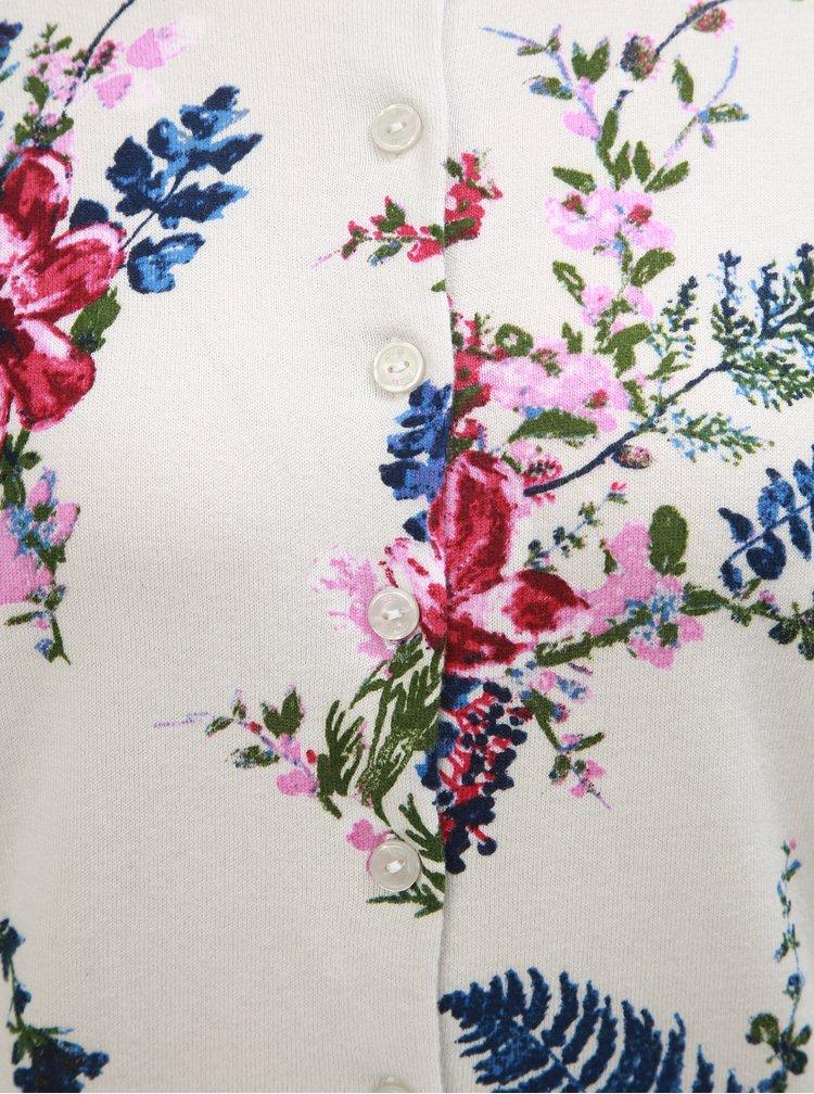 Cardigan roz-crem floral de dama Tom Joule