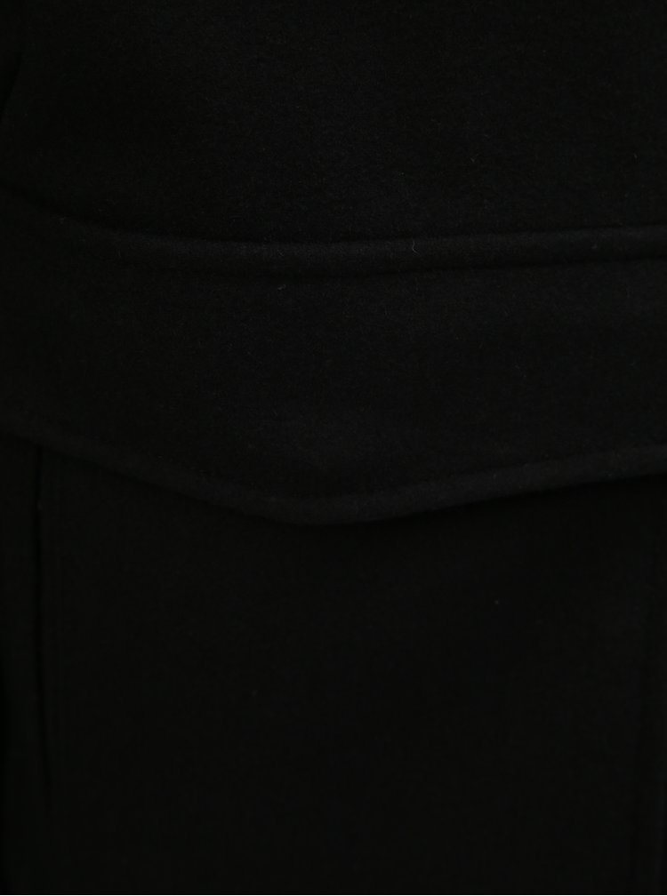 Jacheta neagra din lana cu guler calduros detasabil Original Penguin Sherpa