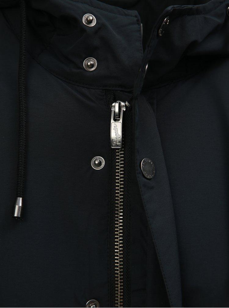 Tmavě modrá nepromokavá zimní bunda s kapucí Original Penguin