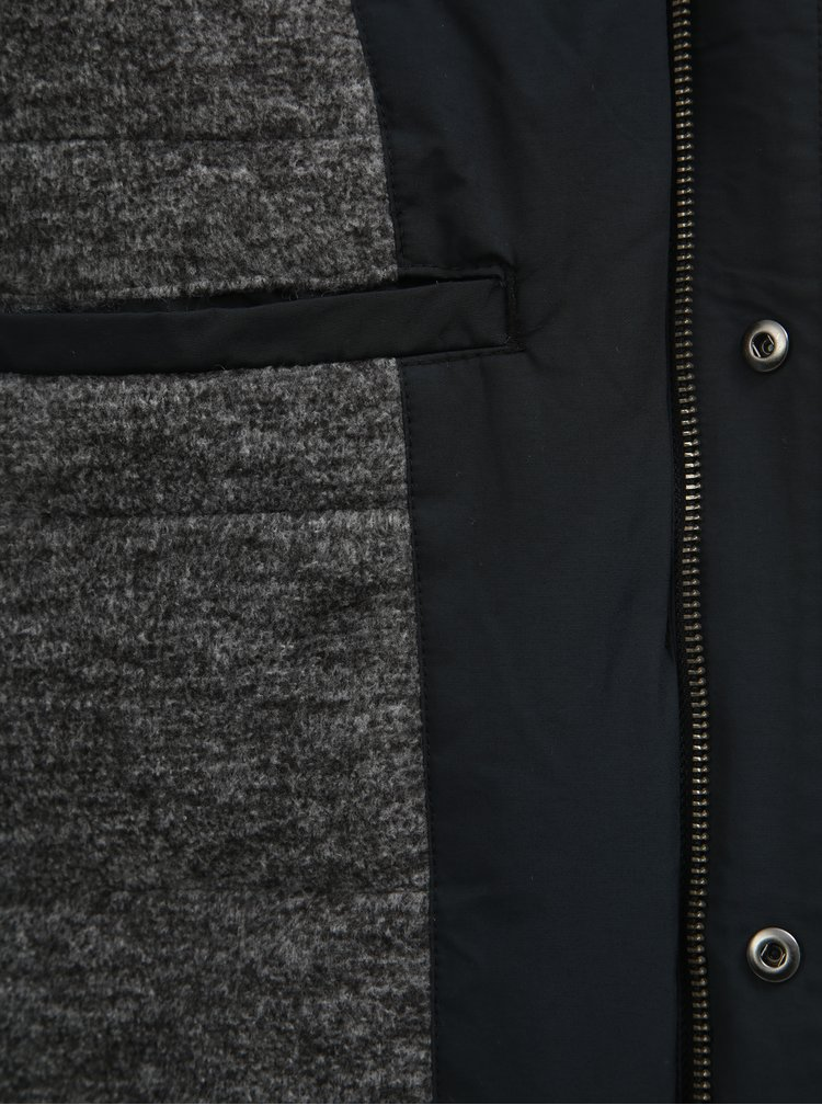 Tmavomodrá nepremokavá zimná bunda s kapucňou Original Penguin