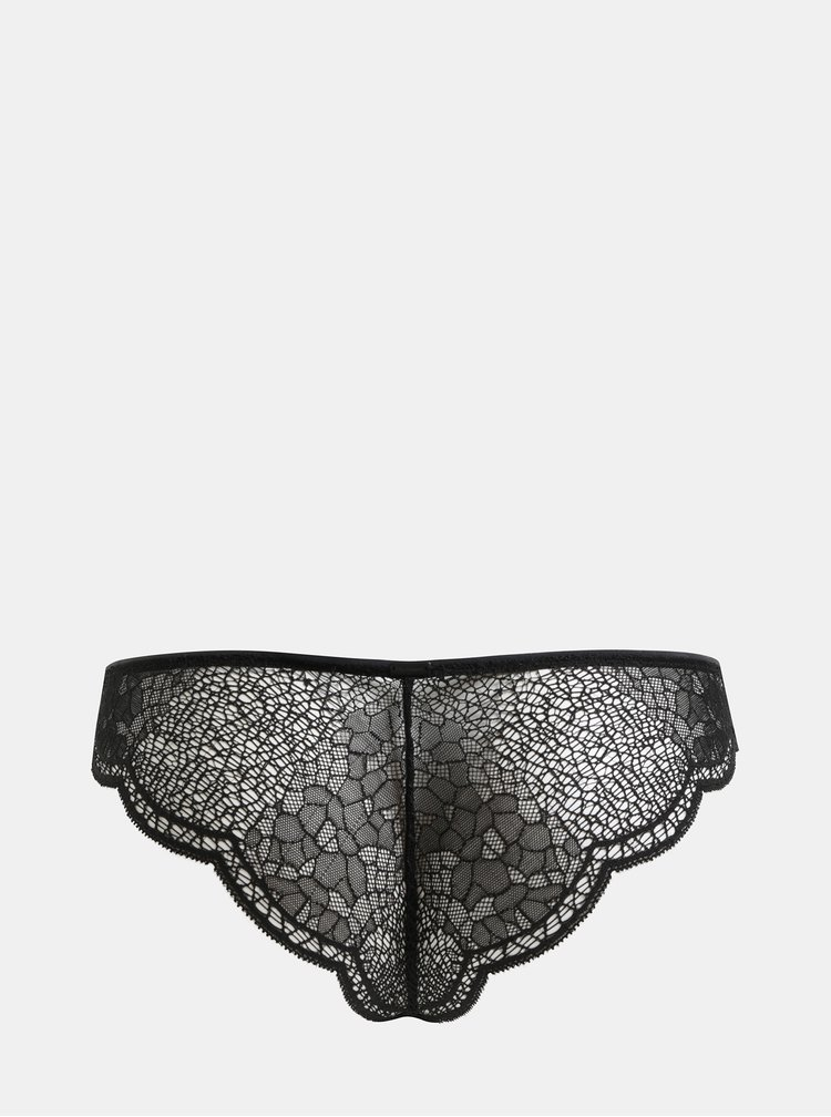 Chiloti negri din dantela Calvin Klein Underwear