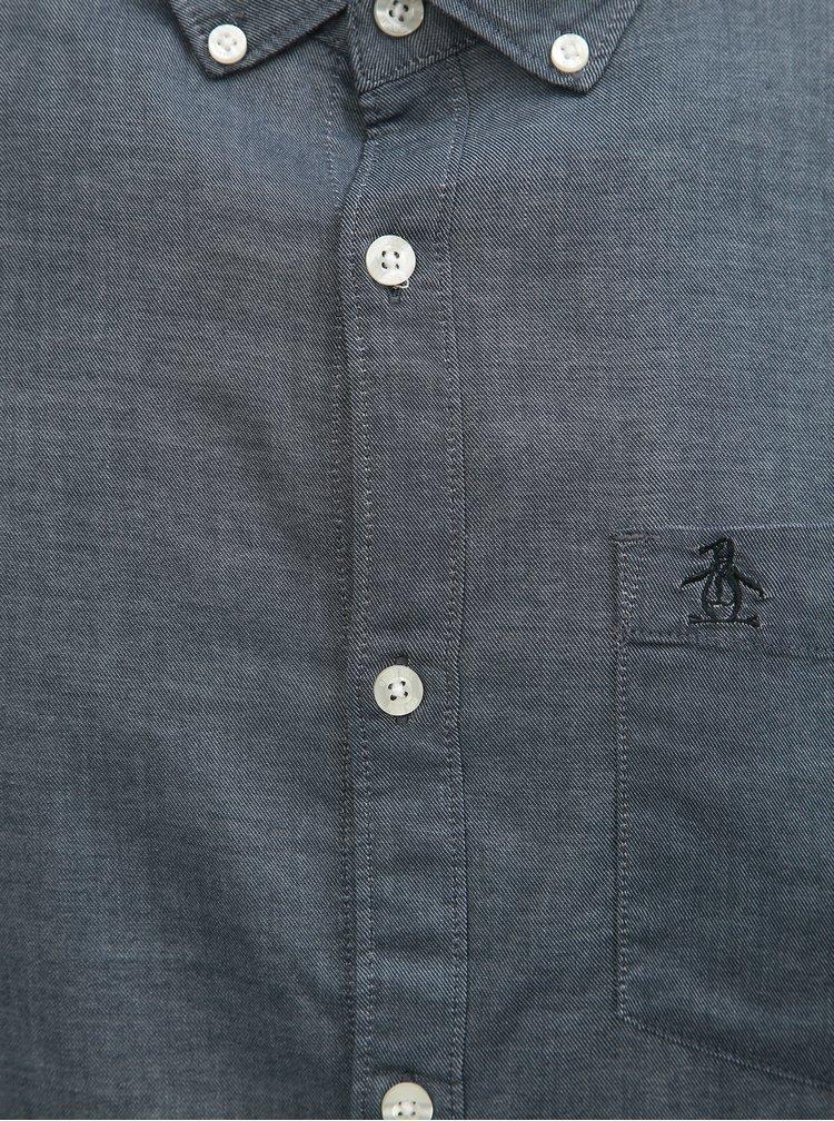 Šedá košile s náprsní kapsou Original Penguin