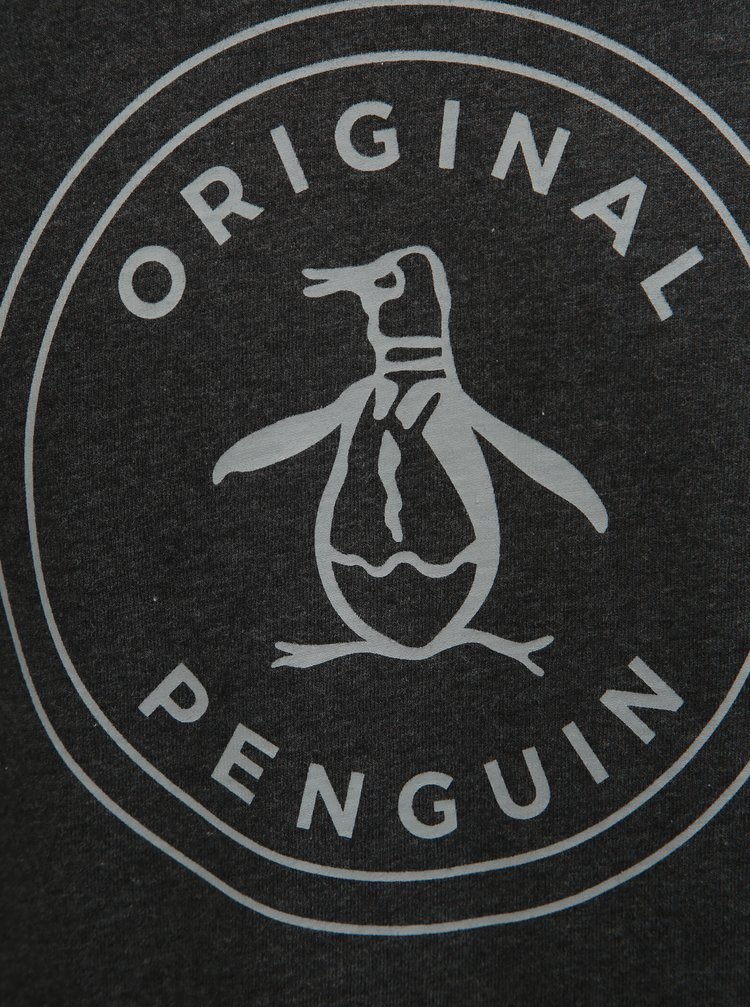 Tmavě šedé tričko s potiskem Original Penguin