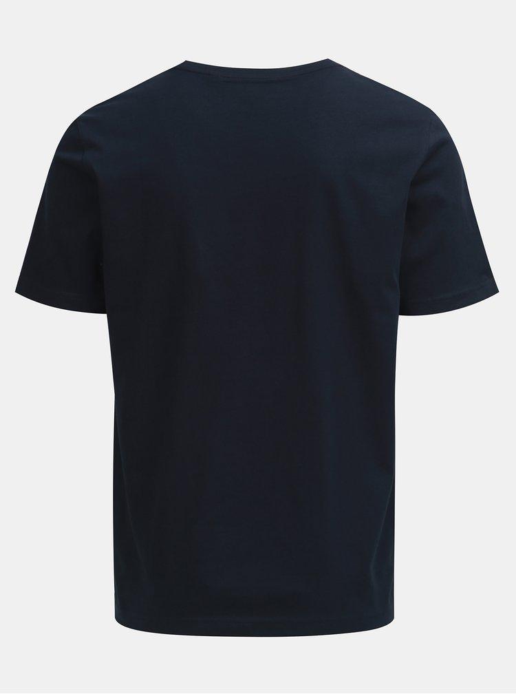Tricou albastru inchis cu imprimeu Original Penguin
