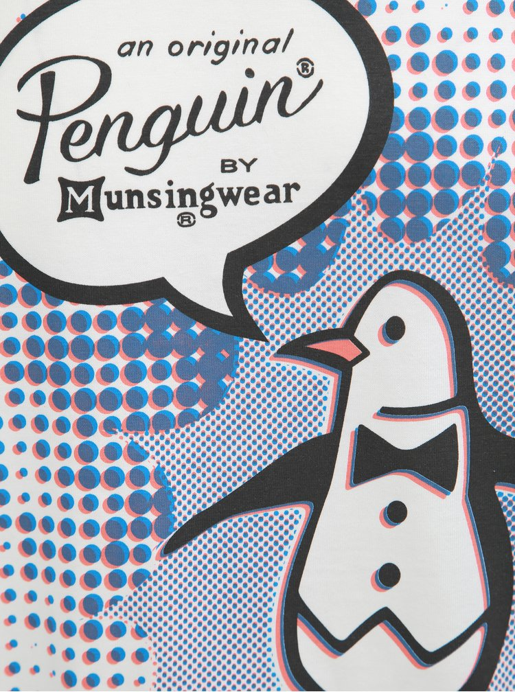 Bílé tričko s potiskem tučňáka Original Penguin