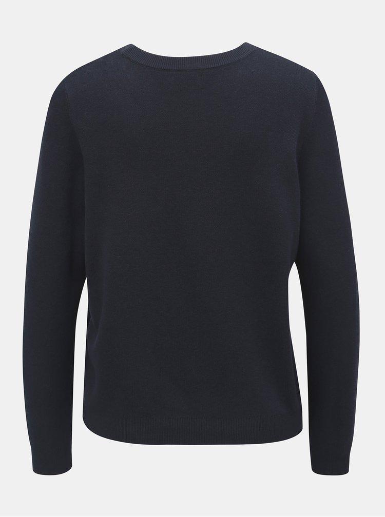 Bílo-modrý svetr s motivem srdce ONLY