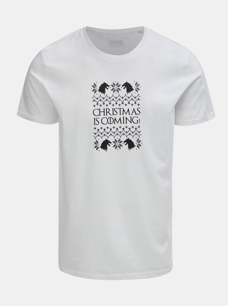 Bílé pánské tričko s potiskem ZOOT Original Christmas is coming