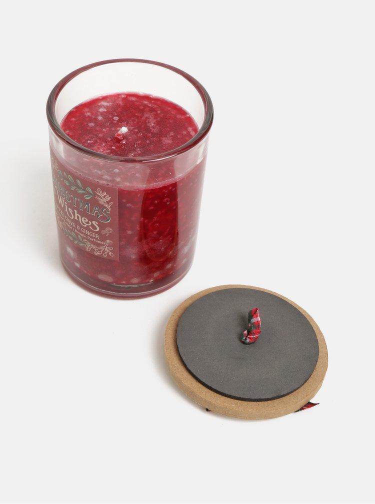 Červená svíčka s vůní hřebíčku a zázvoru v dárkovém balení SIFCON