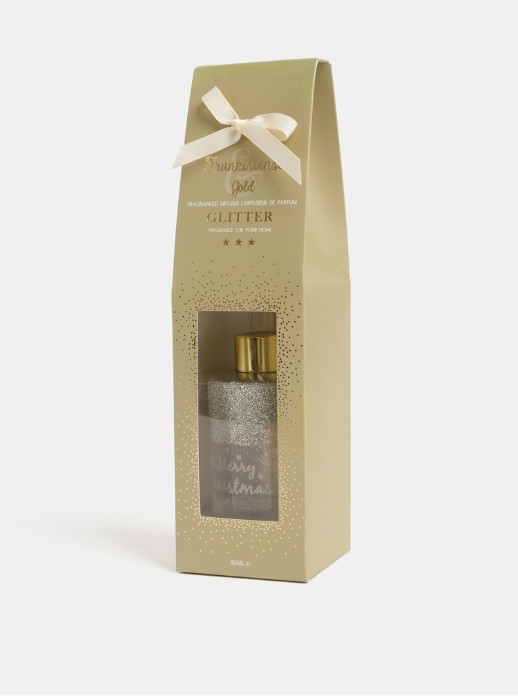 Difuzor de Craciun de culoare aurie cu aroma de vanilie in cutie cadou SIFCON
