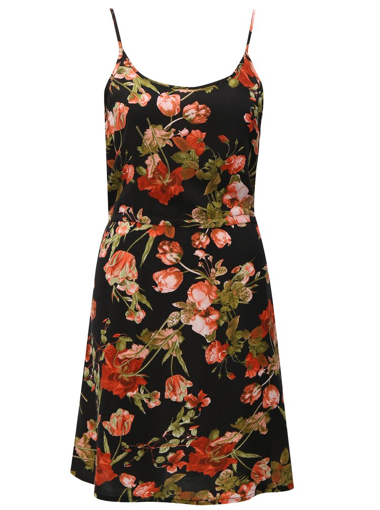 Černé květované šaty Haily´s Tabea