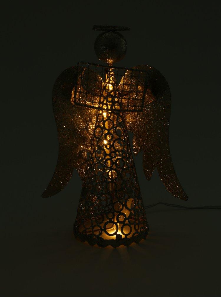 Ingeras cu LED cu carte de culoare aurie Kaemingk