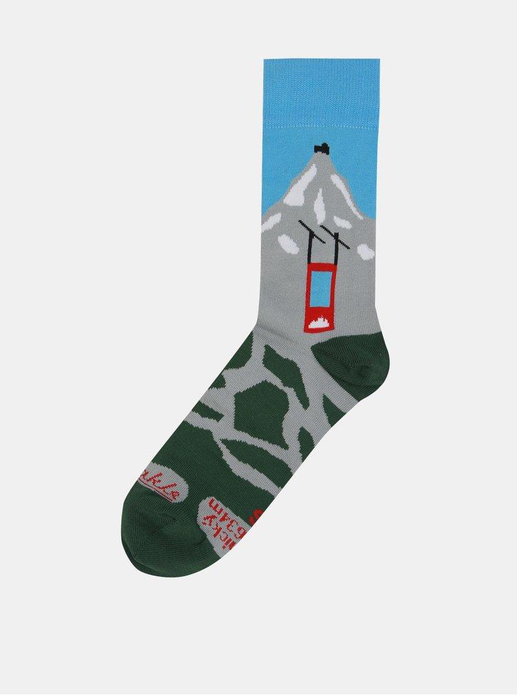 Sada tří párů unisex ponožek s motivem Tater Fusakle Tatry 3