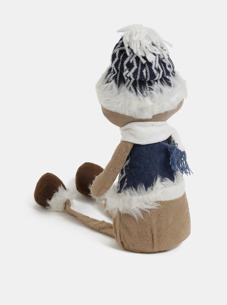 Figurina alb-maro ce poate sta asezata in forma de urs Kaemingk