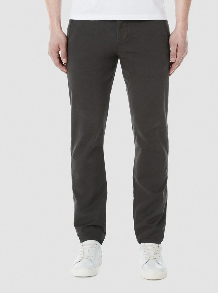 Pantaloni chino gri inchis Selected One Luca