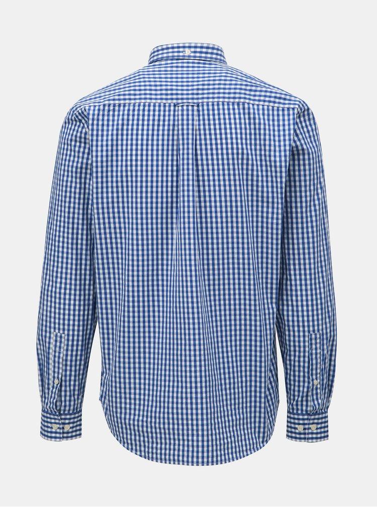 Bílo-modrá kostkovaná košile s dlouhým rukávem Raging Bull
