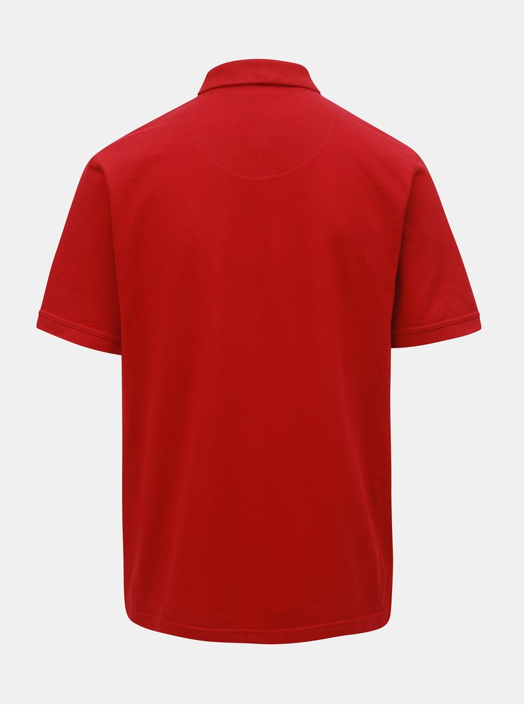 Červená polokošeľa s krátkym rukávom Raging Bull