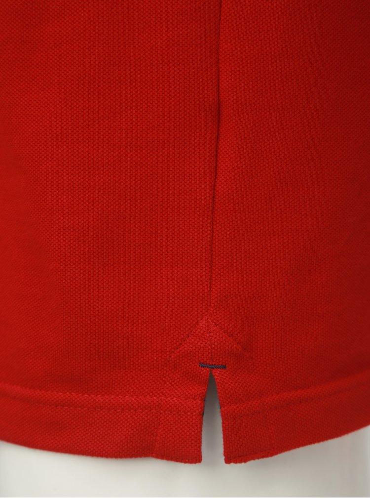 Červená basic polokošeľa s krátkym rukávom Raging Bull